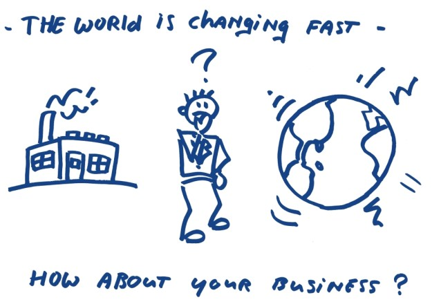 The world is changing fast, How about your business?snel veranderende omgeving. HoekHRM Business coach
