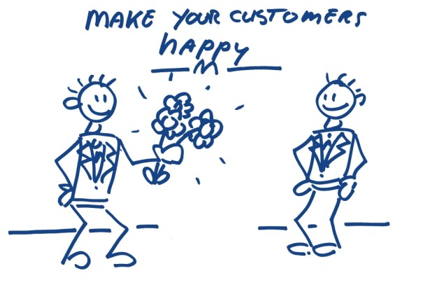 Make your customers happy Business coach Businesscoach business partner
